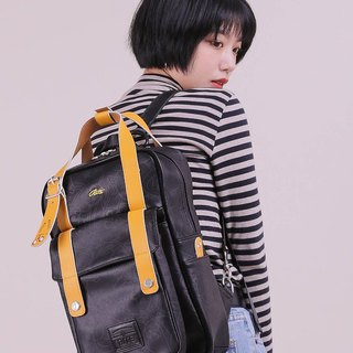 RITEX Adventure Coops - Roaming Bag (M) - Leather Black x Yellow