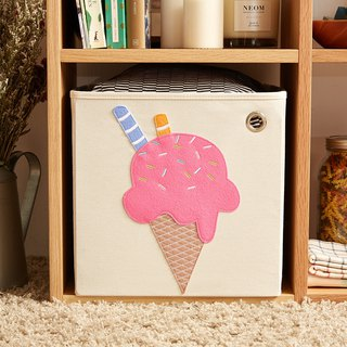 USA kaikai & ash Toy Storage Box - Strawberry Ice Cream