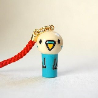 mini Kokeshi * light blue * parakeet strap [2]
