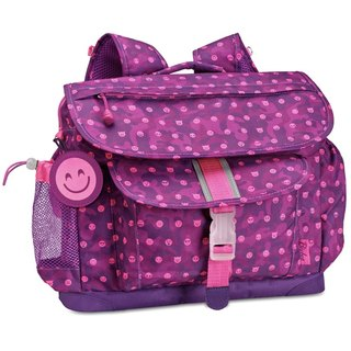 American Bixbee Amazon Limited Edition - Emoji Colorful Purple Children's Lightweight Back Pressure / Schoolbag