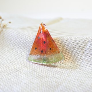 Highlight Also - Glass Watermelon Brooch / Pin