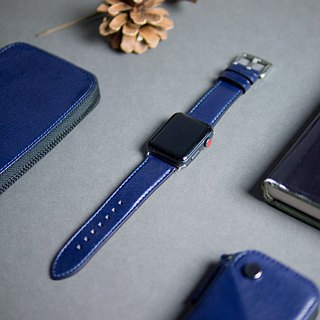 Alto Apple Watch Leather Strap 42/44mm - Navy