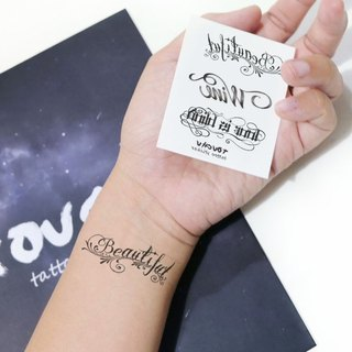 TU Tattoo Sticker - English three collection / Tattoo / waterproof Tattoo / original / Tattoo Sticke
