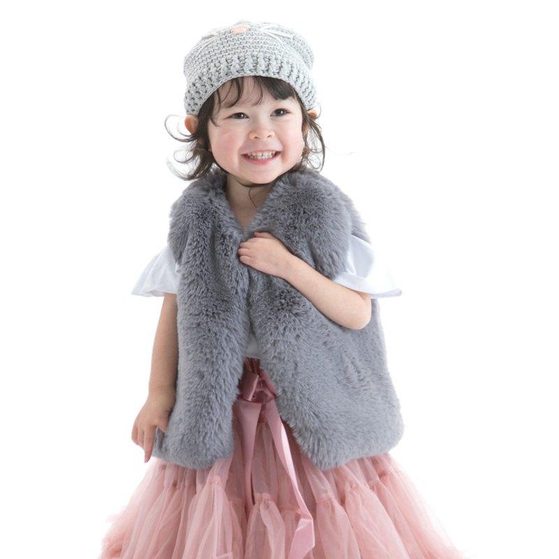 Cutie Bella保暖厚絨毛背心 仿毛皮草 Fur Vest-Gray 煙燻灰