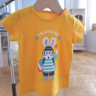 Twin Pack Rabbit Traveler T-shirts-Yellow Set