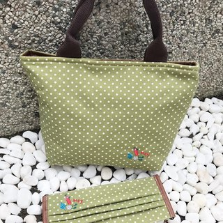 Little Yang bags - green (a total of 6 colors) embroidery patterns