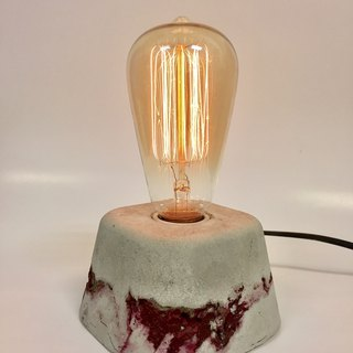 Cement table lamp. Red 9*9*7