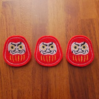 Fukuoku tumbler Tatto embroidery brooch pin