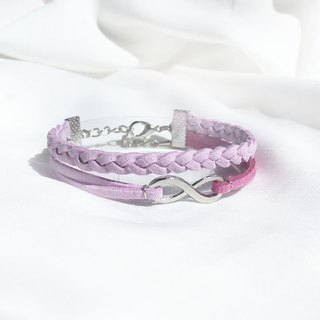 Handmade Double Braided Infinity Bracelets –lavender purple limited