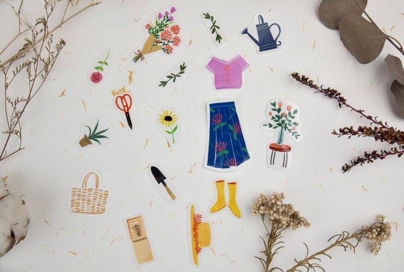 手帳貼紙包-園藝小物