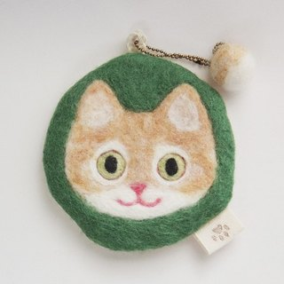 Cat face felt have various usage [red tabby and white]