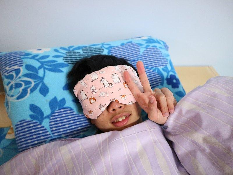 可愛貓~~紅豆溫敷眼罩 mask 可替換 調長短 電腦族手機族最佳保養眼睛方式