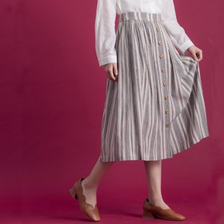 Memories of the spectrum row stripes skirt