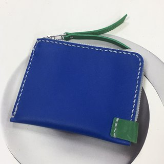 <100% Off Spot Style> Convenient Banknote Coin Purse - Contrast Blue & Green Style