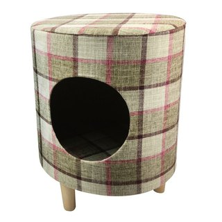 Pet Comfort Multifunction Chair Stool Wood Nest - Round Brown