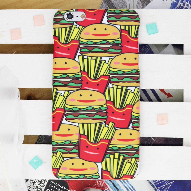 Hamburger Matt Hard Phone Case for iPhone X 8 8 plus 7 7+ Samsung S8 S7 Note 8