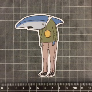 Shark male sticker