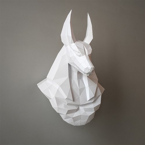 3D Paper Model _ Anubis Wall Decorations _DIY Kits_ hand-made combination