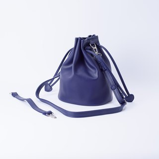 Bundle of Candy Bucket large bucket bag portable shoulder and can replace Purplish blue / purple blue