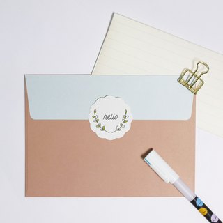 Hello | envelope stickers
