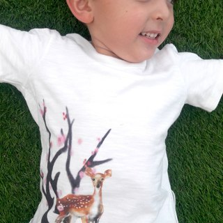 Taiwan Sika Deer T-shirt (Children's Style - Plum Doe)