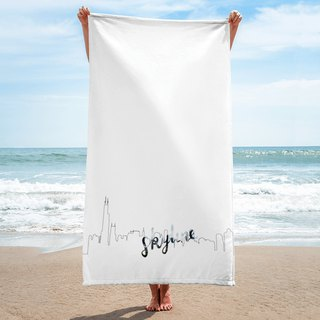 Beach Towel - Chicago Skyline