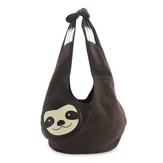 Sleepyville Critters - Hang Loose Sloth Hobo Bag in Canvas Material