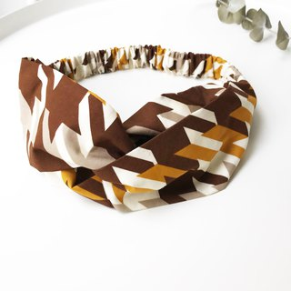 Thousands of birds cross hair band - brown