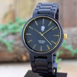 EINBAND Dank Ebony & Gold 40mm Wooden Watch