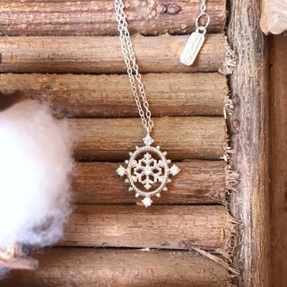 [Gold Charlene sterling silver] safe snow light necklace / bracelet. (Snowflake bracelet, snowflake necklace)