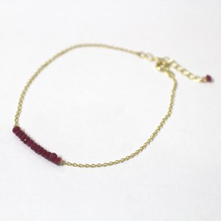 Ruby of go through bracelet