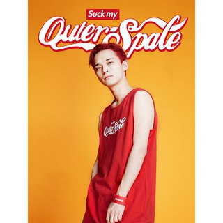 OUTER SPACE Play Cola LOGO Jersey vest (American red)