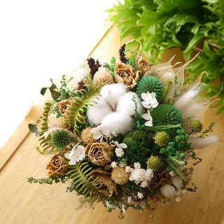 Classical beauty. Vintage autumn fragrance green. Dry flowers birthday plot potted flowers