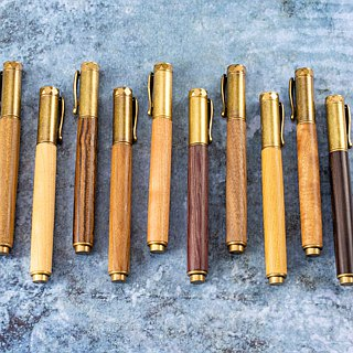 Wooden bronze magnetic pen Antique Brass with laser engraving customized wooden pen wooden pen