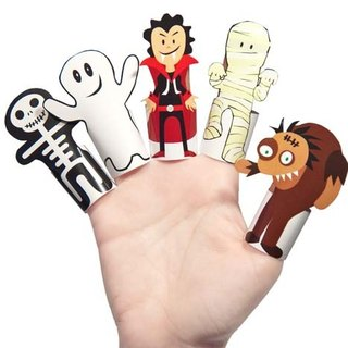[] Pukaca hand-made educational toys finger doll series - Little Monster