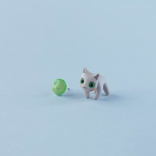 Singapura Cat - Polymer Clay Earrings, Handmade&Handpaited Catlover Gift