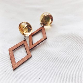 Marygo ﹝ brown. Woody diamond ﹞ earrings