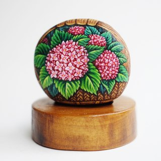 Flower stone painting, Original painting,