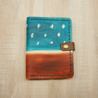Sienna hand-dyed leather Passport (PDA notebook can be changed)