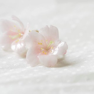 :│Sweet Dream│: Sakura Snow Bloom: First Love Cherry Blossom Earrings: Yoshino Sakura:│SAKURA│