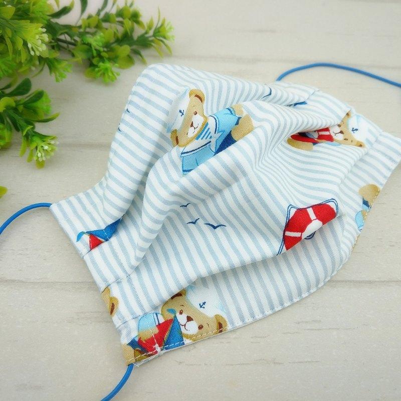 熊熊-6款可選。有壓條有開口棉質布口罩(可加40繡名字)