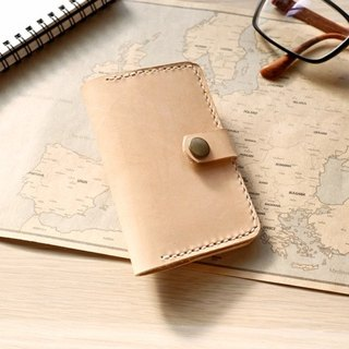 Leather business card holder money card sets of leather card holder original skin color
