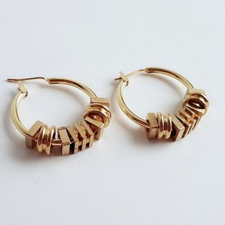 Handmade ring ring brass • earrings