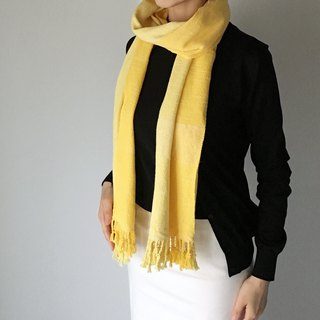 Unisex Silk Scarf / Yellow - All season available -