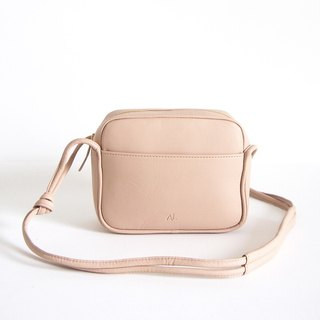 Lili Leather Crossbody Bag in Nude Color