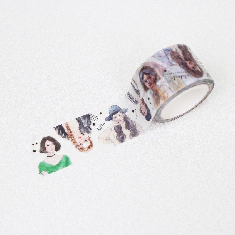 紙膠帶 女孩玩穿搭 半身 2.5cm x 10m