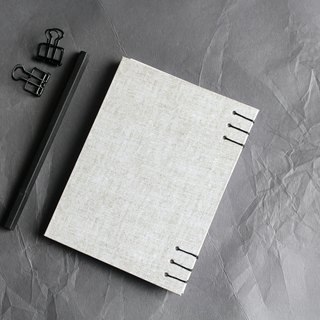 Fashion imitation cloth waterproof plastic surface hard leather hand-sewn notebook