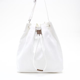 2 Ways Canvas Tote / White