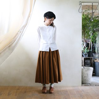 Parachute cross long skirt brown
