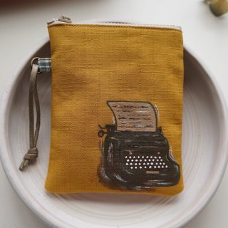 Hand-painted typewriter coin bag